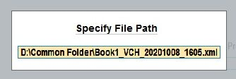 Specify import file path in TallyPrime